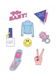 '90s Baby Sticker Sheets (GIFT)